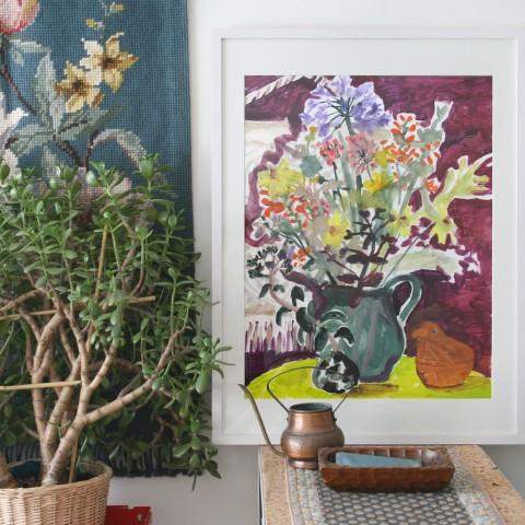 Sommerblumen, Fetthenne & Hühnchen