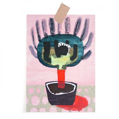 Postkarte Bizarre Pflanze
