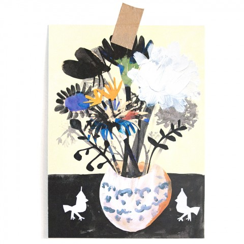 Postkarte Blumen & winzige Waechter I
