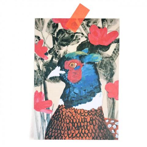 Postkarte Fasan