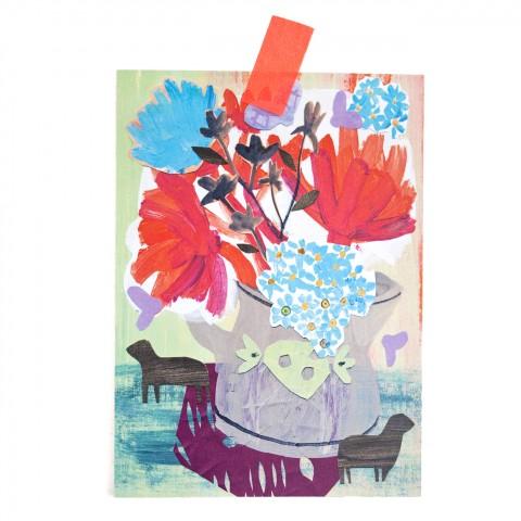 Postkarte Blumen & winzige Wächter II